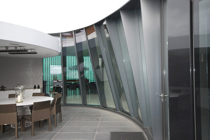 Advanced design innovations advanced design innovations for Curved glass wall