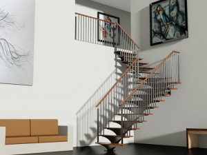 Stepped Spiral Staircase